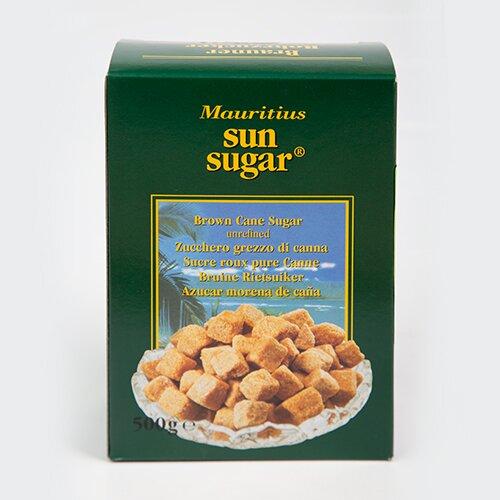 Сахар тростниковый коричневый неровными кусочками SUN SUGAR